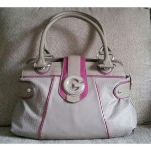 Taupe & Magenta G By Guess Tote